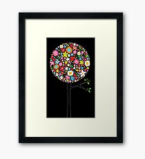 Whimsical Colorful Spring Flowers Pop Trees Framed Print