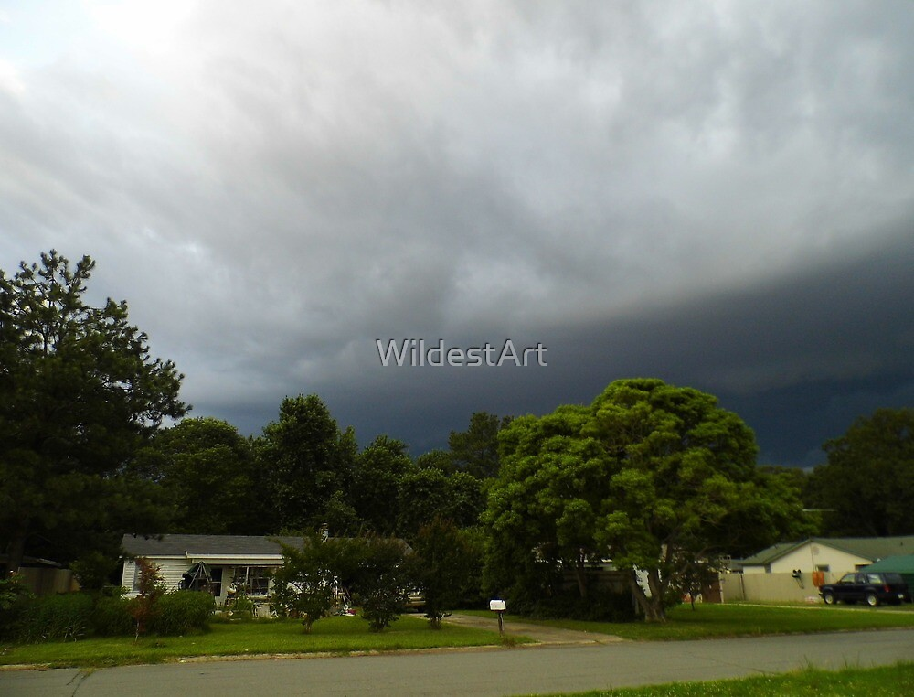 Storm Over My House by WildestArt