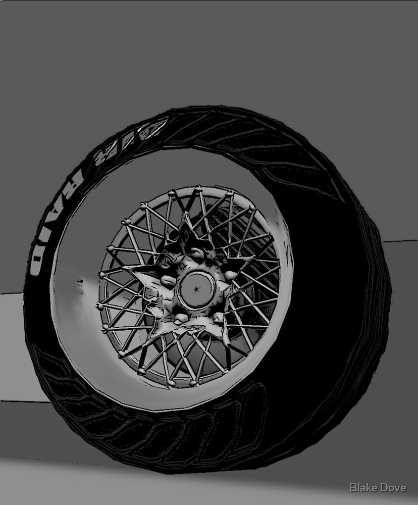 Wheel One (Black and White) by Blake Dove