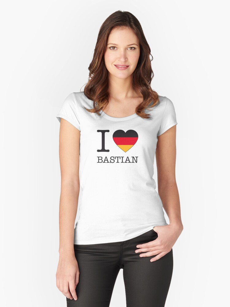 I ♥ BASTIAN Women's Fitted Scoop T-Shirt Front