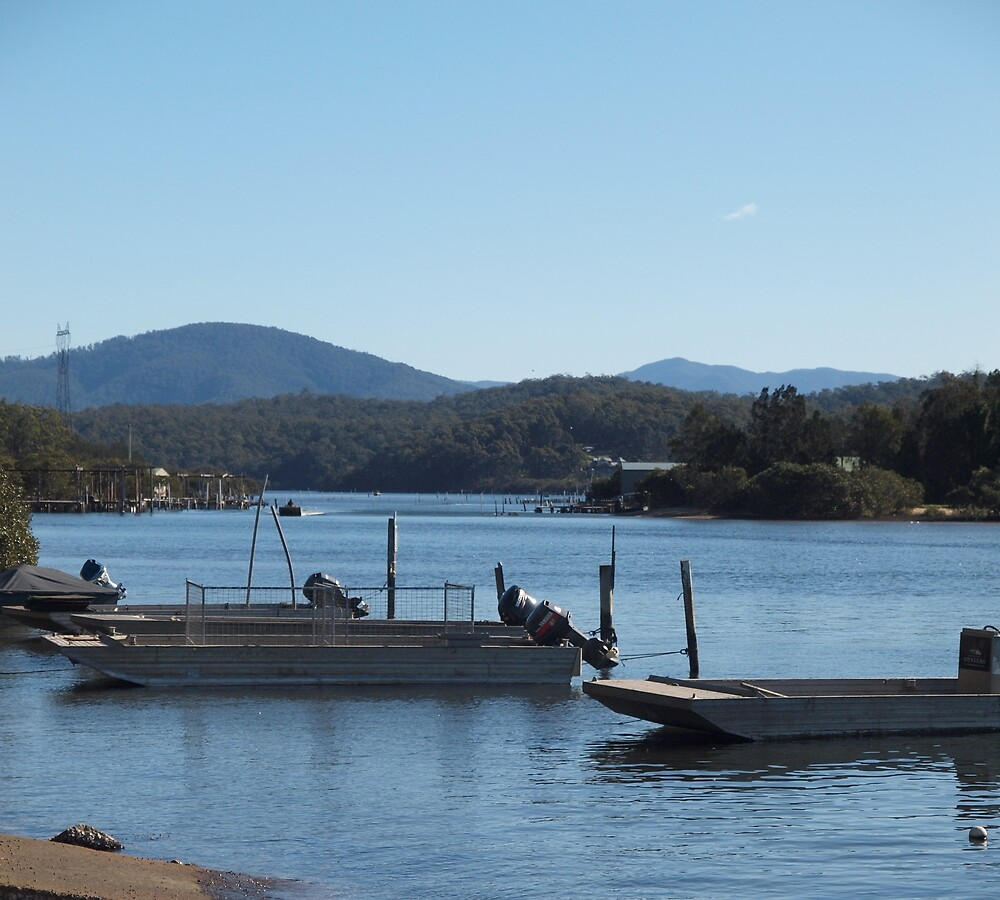 Oyster Punts Batemans Bay NSW by Tom McDonnell