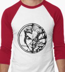 Harvey Dent/Two-Face Illustration Men's Baseball ¾ T-Shirt