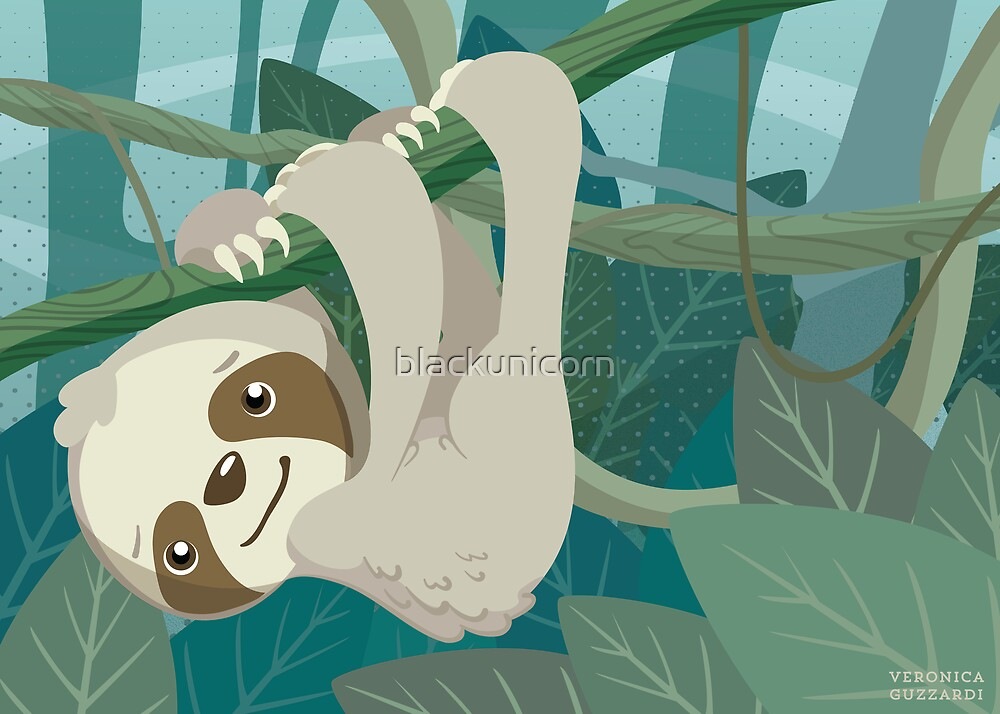 Hang in There, Little Sloth by blackunicorn