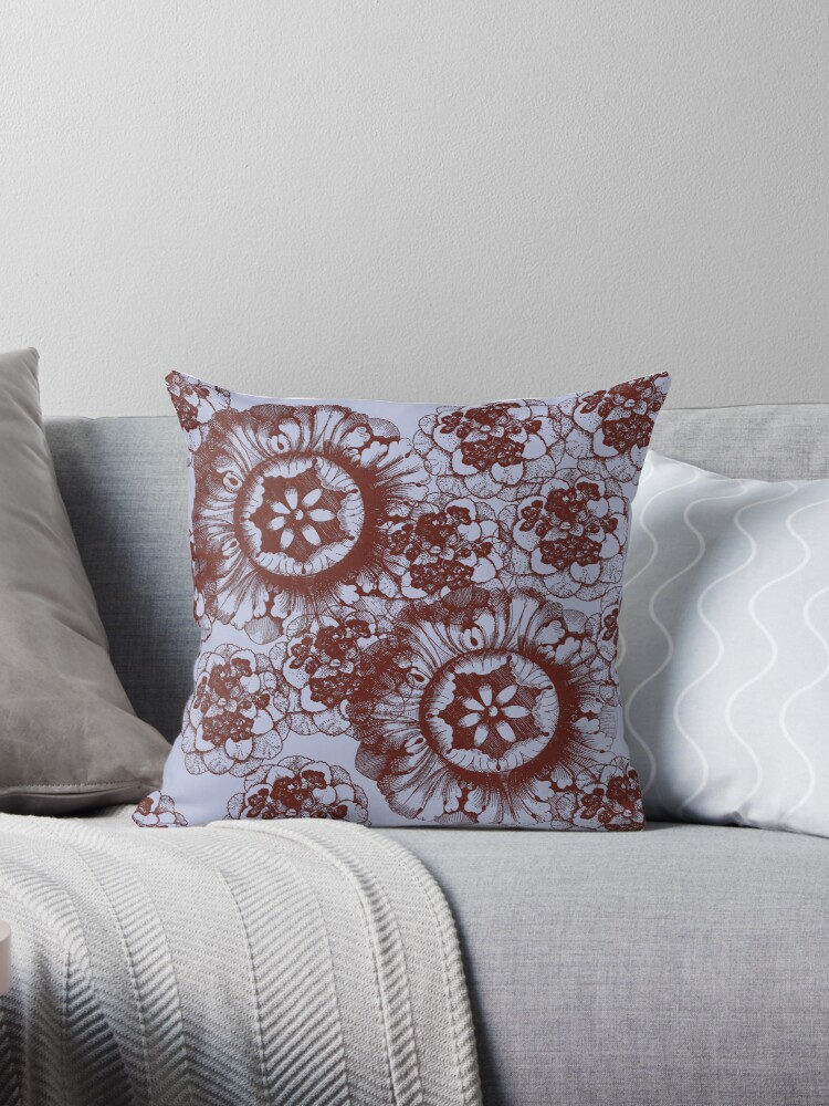 Grey and Brown Floral by Greenbaby