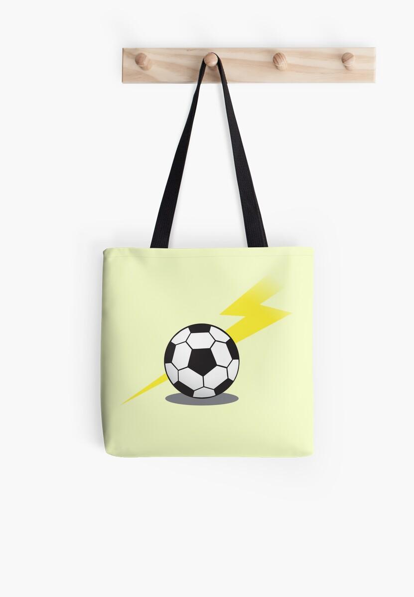 Soccer football with a lightning bolt by jazzydevil