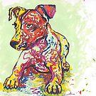 Colorful Jack Russell Terrier by Juhan Rodrik