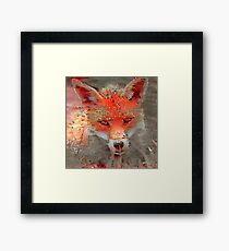Sly Red Fox  Framed Print