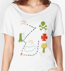 Peter Pan Map Women's Relaxed Fit T-Shirt