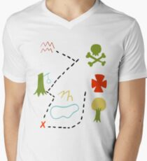 Peter Pan Map Men's V-Neck T-Shirt