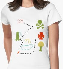 Peter Pan Map Women's Fitted T-Shirt