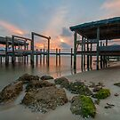 Dock at Sunset - St. George Island by thatche2
