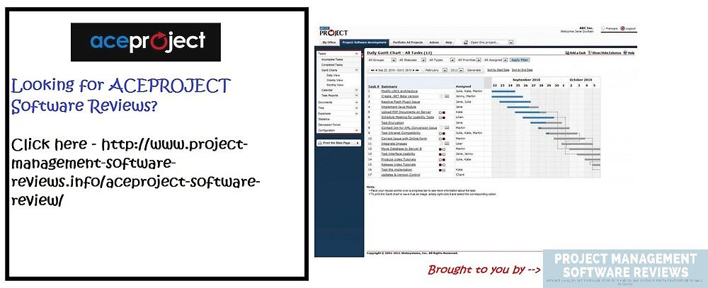 ACEPROJECT Software Reviews - www.project-management-software-reviews.info by projectmanag