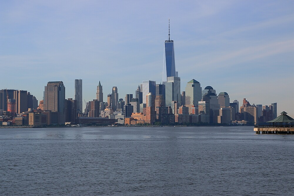 View Of Lower Manhattan From Pier C Hoboken NJ by pmarella