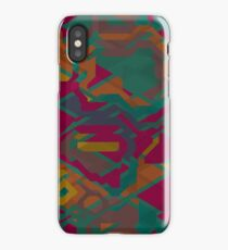 Geometric shapes in retro colors iPhone Case