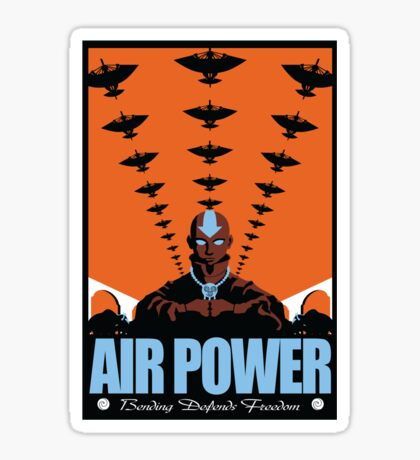 Air Power: Bending Defends Freedom Sticker
