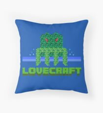 Lovecraft Minecraft Throw Pillow