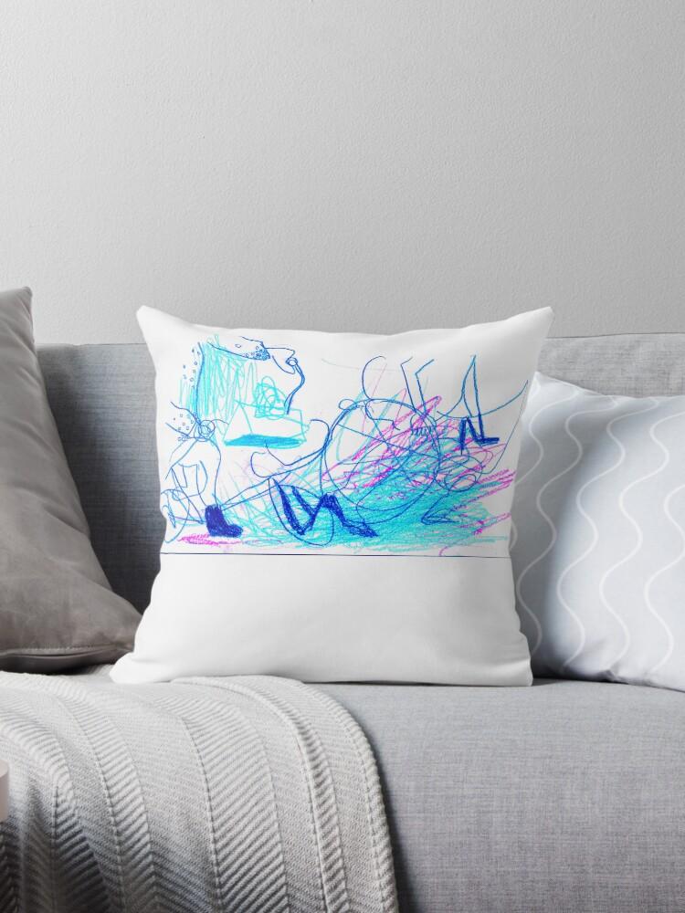 Bicycle Free Drawing Pillows & Tote Bags by Da Eun You