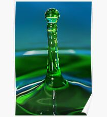 Green Water Drop Poster
