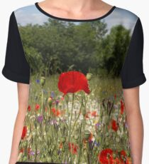 Poppies Women's Chiffon Top