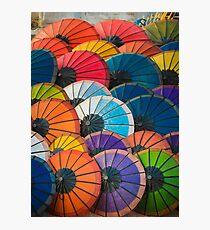Rainbow Parasols Photographic Print
