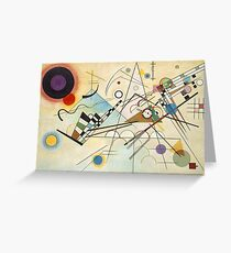Kandinsky painting Greeting Card