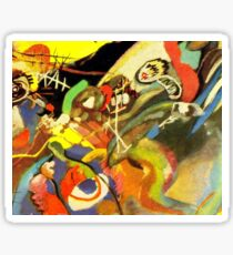 Colourful Kandinsky Abstract Painting Sticker