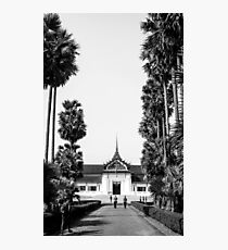 BW Temple Photographic Print