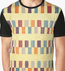 Retro rectangles pattern Graphic T-Shirt