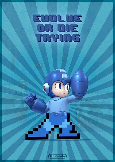 Megaman Evolve or die trying by requenart