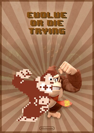Donkey Kong Evolve of Die Trying by requenart
