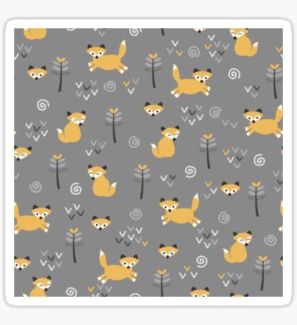 Foxy Grey Sticker