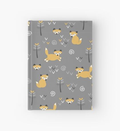 Foxy Grey Hardcover Journal