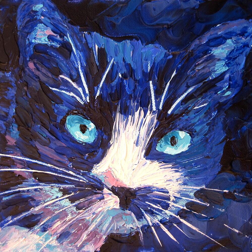 Blue Cat by Megan Proverbs