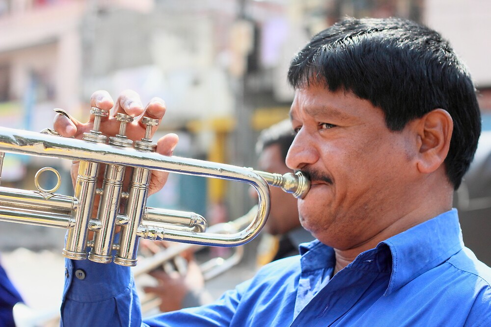 Trumpeter Hyderabad by Andrew  Makowiecki