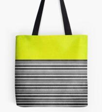 Yellow Gray Stripes Tote Bag