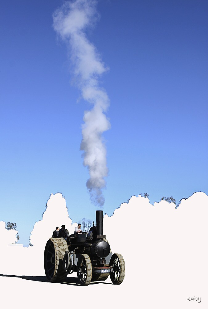 Steam engine tractor by seby