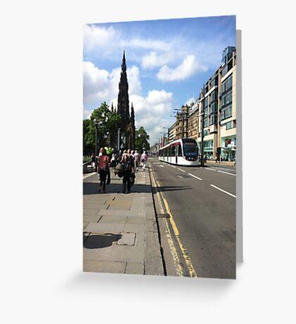 Edinburgh Tram Greeting Card
