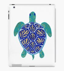 Sea Turtle – Navy & Gold iPad Case/Skin