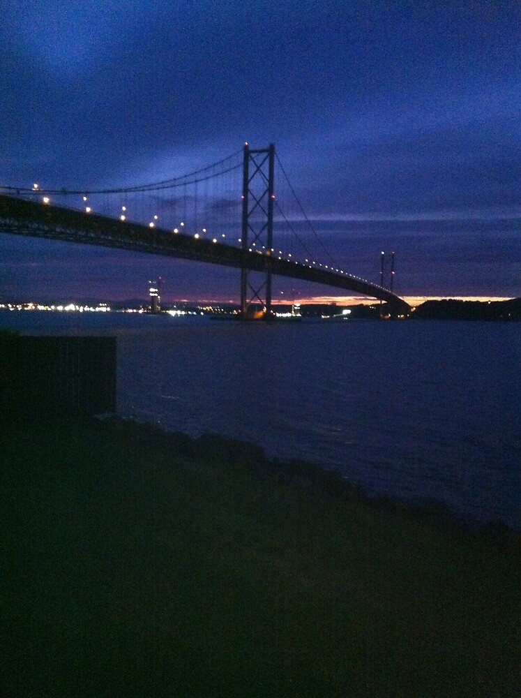 Forth Road Bridge at night by AJAnfield