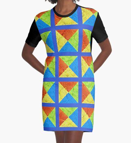#DeepDream color factures #Art Graphic T-Shirt Dress