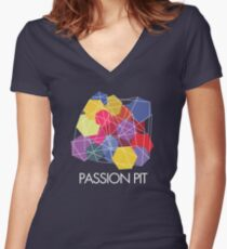 """Passion Pit - """"Chunk of Change"""" Women's Fitted V-Neck T-Shirt"""