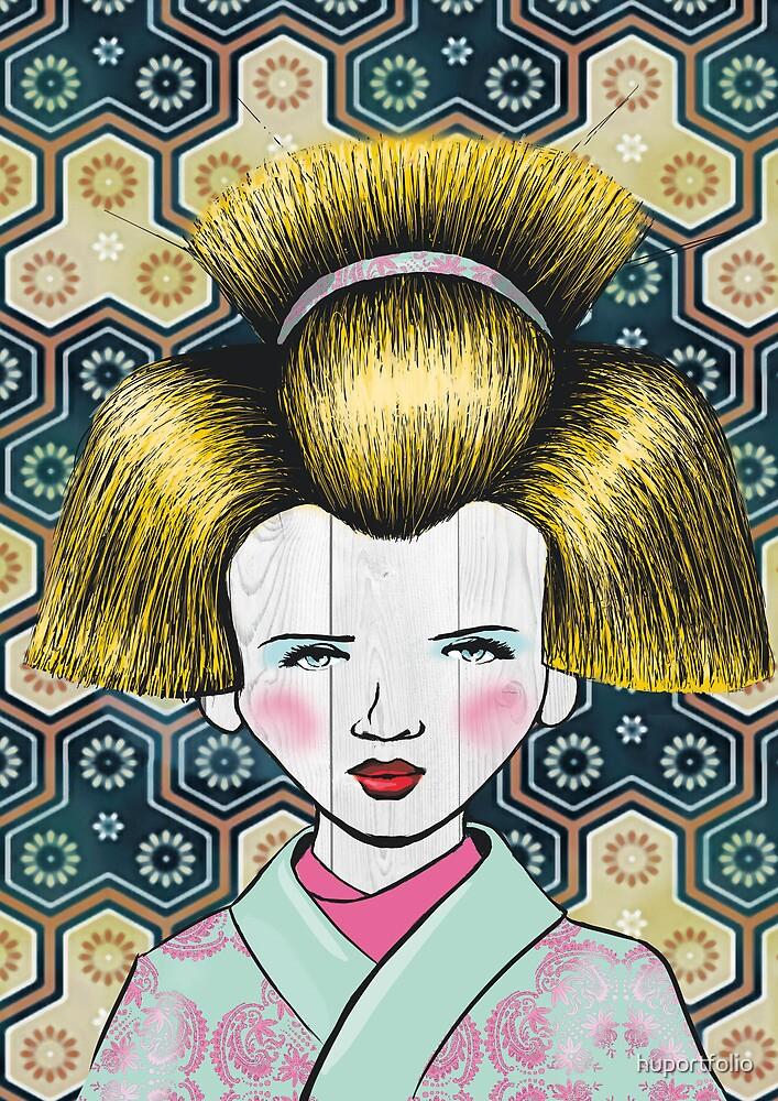blonde gueisha  by huportfolio