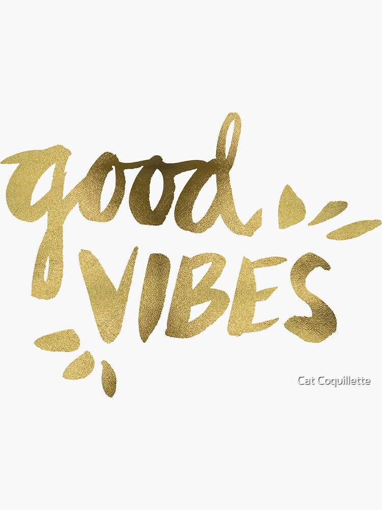 Gute Stimmung - Gold Tinte von catcoq