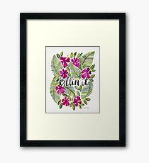 Killin' It – Tropical Pink Framed Print