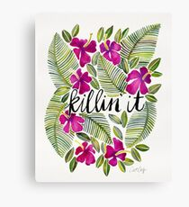 Killin' It – Tropical Pink Canvas Print