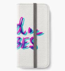 Good Vibes – Magenta & Cyan iPhone Wallet/Case/Skin