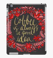 Vinilo o funda para iPad Café en carbón