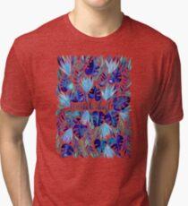 Tropical Wanderlust – Blue Tri-blend T-Shirt