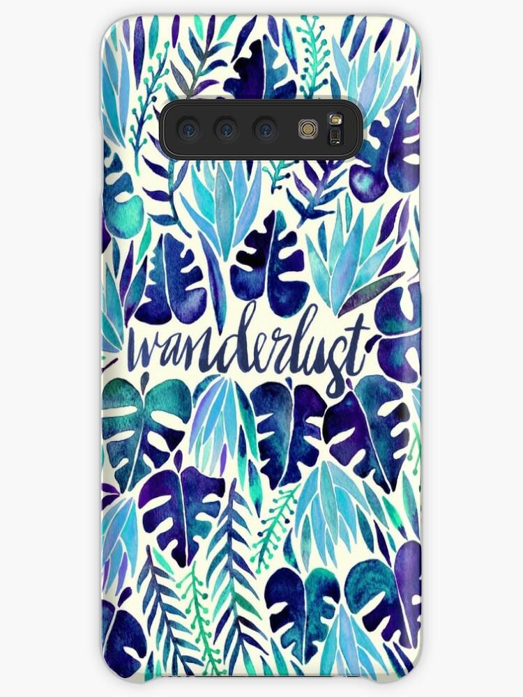 Tropisches Wanderlust - Blau von Cat Coquillette