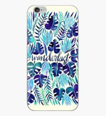 Tropical Wanderlust – Blue iPhone Case